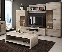 M LUKA  Modern Set TV Table Entertainment Unit Stand Living Room