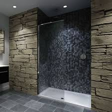 Walk-in Shower Enclosure Shower Tray & Glass Panel - Image 1