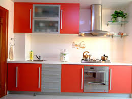Red Cabinets In Kitchen