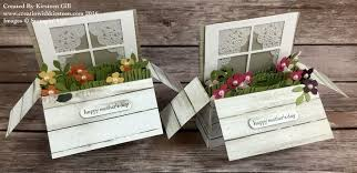 Card in a box...window and flowers...sweet idea | Самодельные ...