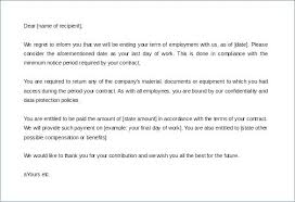 End Of Employment Contract Termination Letter Template Free Finish ...
