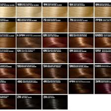 Clairol Hair Color Chart World Of Template Format Regarding