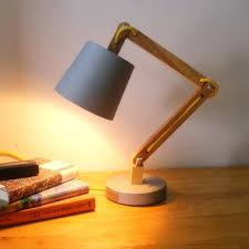 wooden bedside lamps new loft modern wood read table lamp vintage solid wood modern desk lamp study light warm white swing arm in led table lamps from
