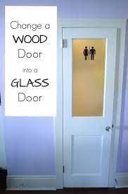 changing a panel door into a glass door
