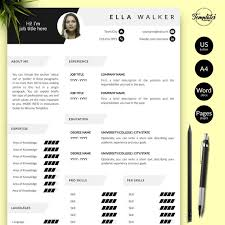 Modern Resume Etsy Creative Cv With Photo Cover Modern Resume Design For Word Pages Best Resume Template Etsy 2019 One Two And Three Page Resumes