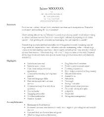 Resume For Food Server Resume Examples Food Service Food Service Resume Template Server