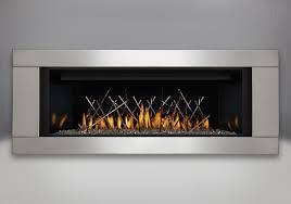 mirro flame porcelain reflective radiant panels premium 4 sided surround brushed stainless steel finish nickel stix designer fire art