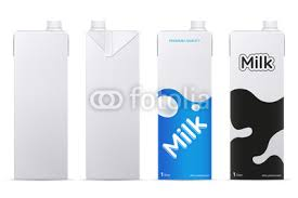 Vector milk package mockup isolated on white background. Cardboard ...