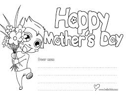 Print A Mother S Day Card Online Happy Mothers Day Greeting Card Coloring Pages Hellokids Com