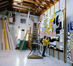 roy lichtenstein in his southampton studio in 1977 photographed by aurelio amendola aurelio