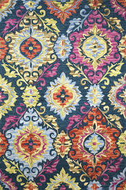 multicolor suzani hand tufted carpet