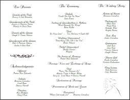 wedding party program templates 025 free printable wedding ceremony program template ideas