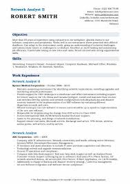 Network Analyst Resume Samples Qwikresume
