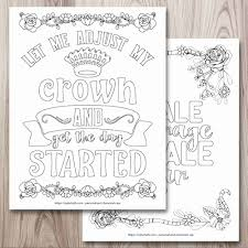 Share this quote on your page with your friends. 21 Free Inspirational Coloring Pages For When You Re Having A Tough Day The Artisan Life