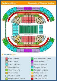 Skillful Cardinals Stadium Seat Map Arizona Cardinals