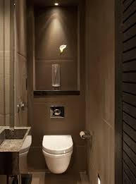 modern guest bathroom design. masculine guest bathroom design ideas with brown color and modern n