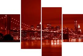 sumptuous design red wall art layout minimalist 4 piece canvas large panel new york city bridge picture decor uk on red canvas wall art uk with sumptuous design red wall art layout minimalist 4 piece canvas large