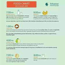 Hi Dr Plz Suggest Diet Chart For 6 Month Old Baby