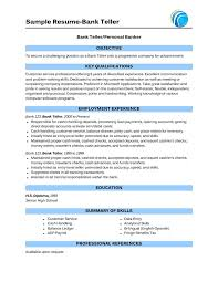 bank teller sample resume with no experience resume examples for career change