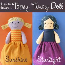 how to make a topsy turvy doll from any rag doll pattern a free tutorial