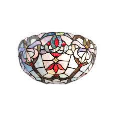 Multi Color Wall Light Bonlicht Multi Colored Wall Sconce Vintage Tiffany Style 1 Light Victorian Design Wall Light Fixtures With 12 Inch Stained Glass Shade Wall Lamp For