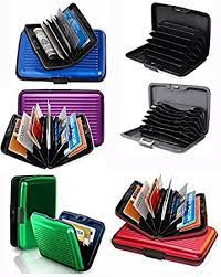 Take control of your cash flow. Amazon Com Set Of 6 Aluminium Metal Credit Card Wallet Holder Moneybag Storage Prevent Identity Theft By Blocking Rfid Scanning Of Your Credit Cards Assorted Colors Size 11x7x5 2cm Clothing Shoes Jewelry