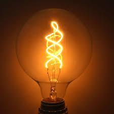 Vintage Filament Led Bulb E27 G125 Spiral