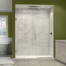 frameless door and panel shower door