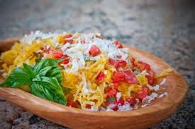 Spaghetti Squash with Chicken and Tomato