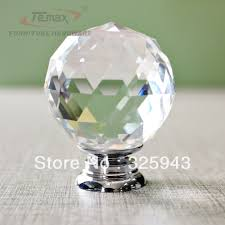 30mm Round Clear Crystal Sparkle Diamond Cabinet Knobs And Handles Dresser  Drawer Handles Door Knob