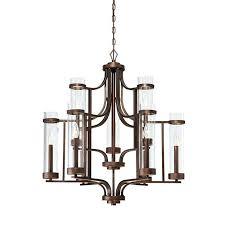 9 light chandelier millennium lighting in rubbed bronze transitional chandeliers portfolio oil bro