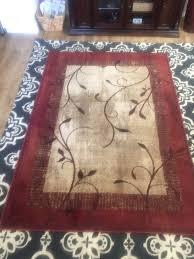 allen roth tinsley red rectangular area rug 5x7