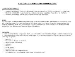 Mesoamerica Webquest Aztecs Incas Mayas