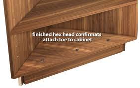 Unfinished Corner Shelves Exposed Interior Corner Shelf Base Cabinet 89