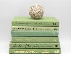 zen book decor set bamboo green