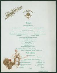 best vintage holiday hotel menu s images vintage  1896 thanksgiving menu from the windsor new york
