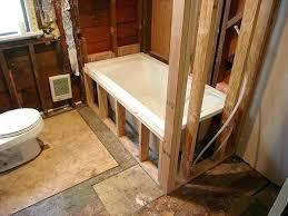 drop in bathtub installation drop in tub look with shower ceramic tile advice forums john bridge