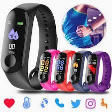 M3 <b>Bluetooth Smart Watch Fitness</b> Waterproof Smart Bracelet Touch ...