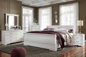 Ashley Furniture Anarasia Sleigh Bedroom Set in White | New Home ...