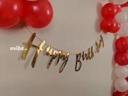 graceful red white birthday balloon