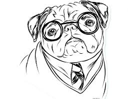 pug coloring pages page drawn fabulous pencil to dog pictures color free printable for kids pig the colouring