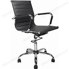 Reflex Black Leather Effect Swivel Chair Leather Office Chairs