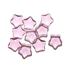 pink stars decorative glass pieces