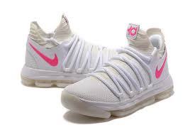 nike basketball shoes 2017 kd. 2017 cheap nike kd 10 white pink glow in the dark men\u0027s basketball shoes-3 shoes kd