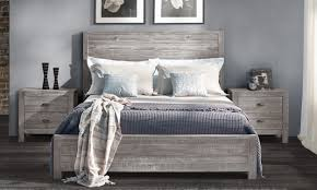best bed frames 2017. Simple 2017 Grey Wooden Bed Frame With Bedding For Best Bed Frames 2017 O
