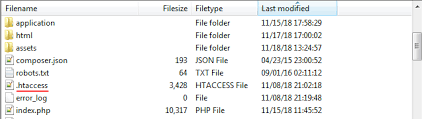 if you are using apache server w xp m etc then you will have to edit htaccess file which you will find in root directory
