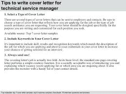 It Manager Cover Letter Example Technical Service Manager Cover