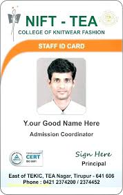 company id card templates badge card template
