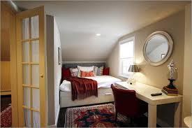 Mirrored Round Ideas Small Room Bed Red Rugs Chairs Awesome Features Pillow  Short Roof Designs