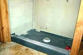 shower pans tile ready pan home depot barrier free installation base preformed liner oatey sh